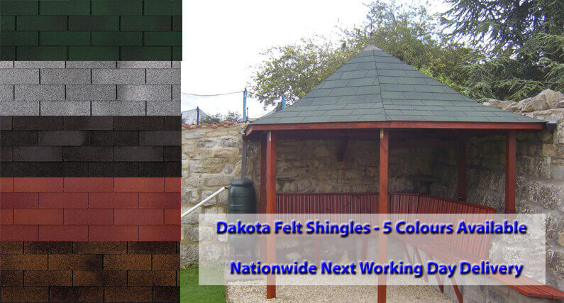 Dakota Roof Felt Shingles 3 sqr metre pack - About Roofing Supplies