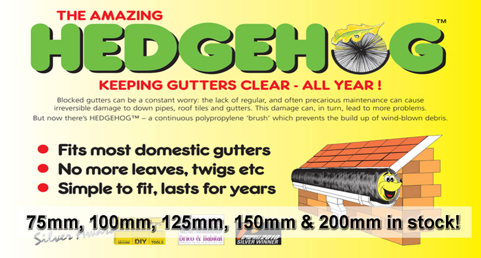 Hedgehog Gutter Brush - About Roofing Supplies