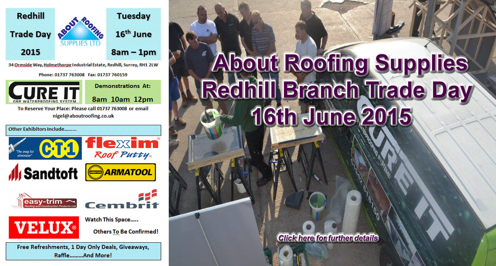About Roofing Supplies Redhill Branch Trade Day 16.06.15