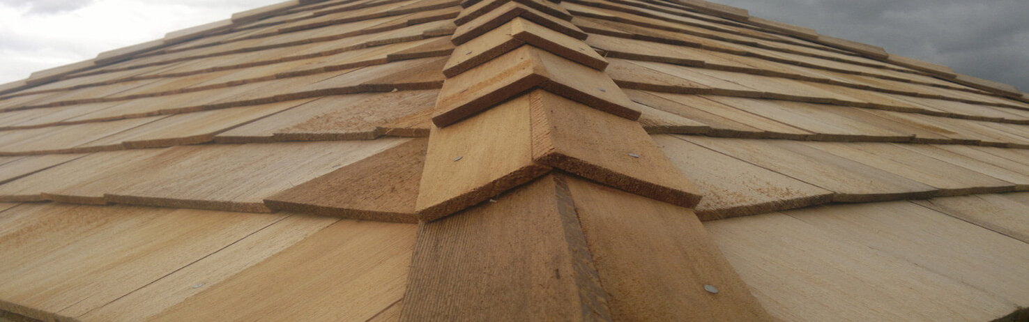 Cedar Roof Shingle Ridges