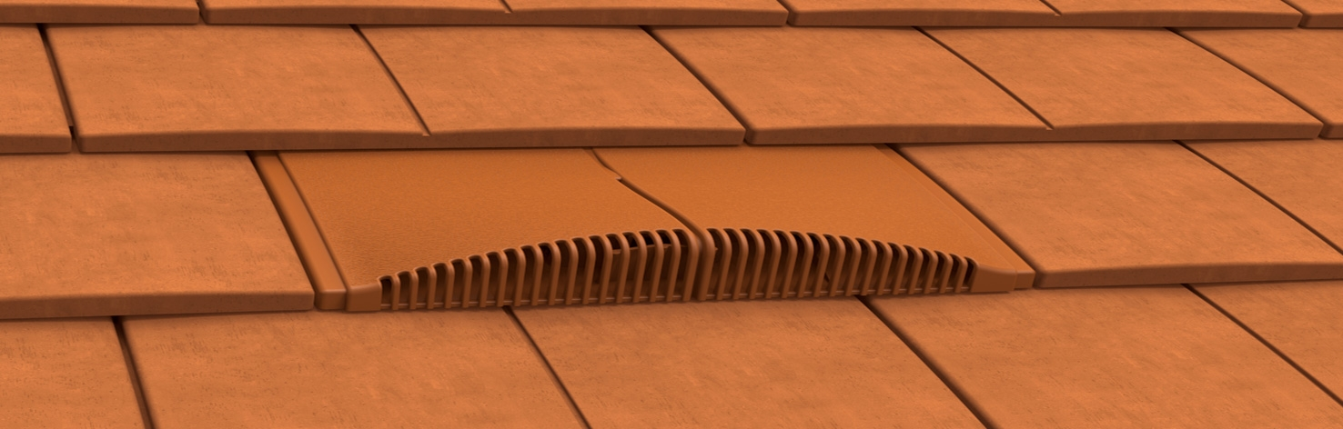 Interlocking Concrete Plain Tile Roof Tile Vents
