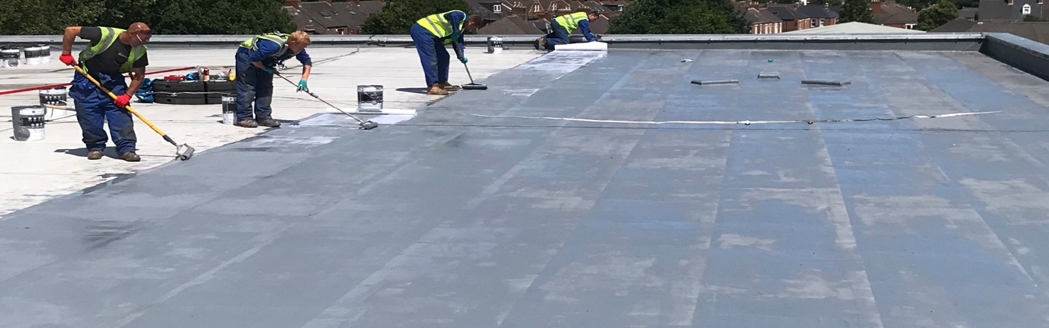 Easy Trim PolyureCoat Flat Roof Waterproofing System