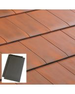 Edilians HP10 Interlocking Clay Roof Tile Natural Red / Slate / Burnt Red