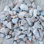20mm Scottish Glensada Pink & Grey Granite Chippings: 850kg Bulk Bag - from About Roofing Supplies Limited