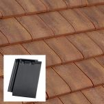 Edilians HP17 Interlocking Clay Roof Tile Slate / Burnt Red / Chevreuse - from About Roofing Supplies Limited