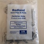 Redland 9192 Cambrian Eave Clips & Nails x 50 - from About Roofing Supplies Limited