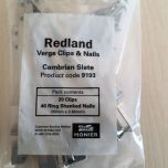 Redland 9193 Cambrian Verge / Valley Clips x 20 & Nails x 40 - from About Roofing Supplies Limited