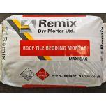 Remix 1:3 Roof Tile Bedding Mortar 20kg Bag Black