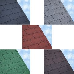 ARS Square Butt Roof Felt Shingles 3 Square Metre Pack Grey / Green / Brown / Black / Red - from About Roofing Supplies Limited