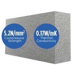 Mannok Aircrete Standard 100mm 5N/mm2 Thermal Blocks (previously Quinn Lite Standard Thermal Blocks)