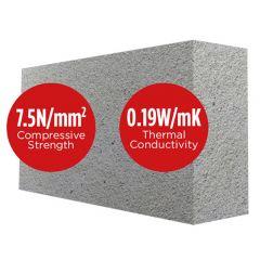 Mannok Aircrete Seven 100mm 7N/mm2 Thermal Blocks (previously Quinn Lite Seven Thermal Blocks)