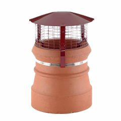 Brewer Birdguard For Solid Fuel, Oil & Gas Chimneys Terracotta - from About Roofing Supplies Limited