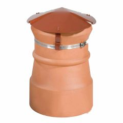Brewer Chimney Capper Prevents Rain, Birds and Debris Terracotta Red - from About Roofing Supplies Limited
