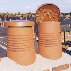 """C Cap Chimney Capper 300mm Vents Disused Chimney Pots Up To 11"""" 280mm Terracotta / Buff - from About Roofing Supplies Limited"""