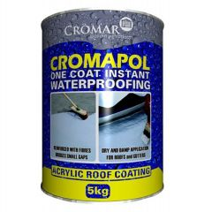 Cromar Cromapol Acrylic Waterproof Roof Coating Grey 1kg / 2.5kg / 5kg / 20kg - from About Roofing Supplies Limited