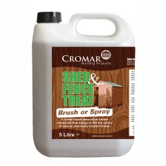 Cromar Shed & Fence Treat 5 litre Light Brown / Dark Brown  - from About Roofing Supplies Limited