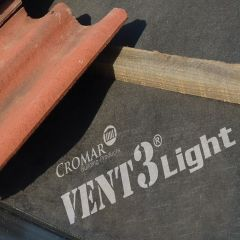 Cromar Vent 3 Light 95gsm Breathable Roof Membrane 50mtr x 1mtr - from About Roofing Supplies Limited