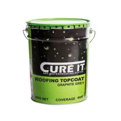 Cure It GRP Roofing Topcoat 20kg Graphite Grey - from About Roofing Supplies Limited