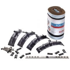 Klober Roll Fix Dry Fix Vented Roof Ridge Kit 5mtr Anthracite / Brown / Terracotta - from About Roofing Supplies Limited