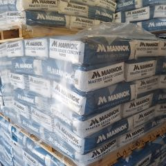 Mannok Mastergrade Cement Pallet of 60 x 25kg bags (Paper Bags)   About Roofing Supplies