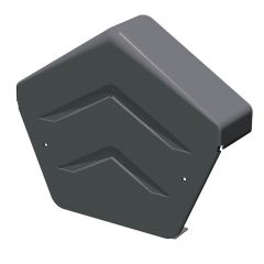 Manthorpe Smart Verge Dry Verge System GDV END A GR Angled Ridge End Cap Grey - from About Roofing Supplies Limited