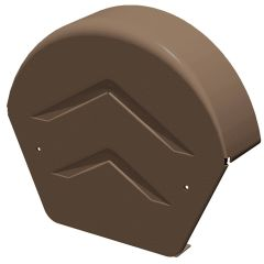 Manthorpe Smart Dry Verge System GDV END R BR Half Round Ridge End Cap Brown - from About Roofing Supplies Limited