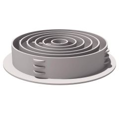 Manthorpe G700 Circular Soffit Vent White - from About Roofing Supplies Limited