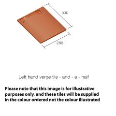 Sandtoft 20/20 Interlocking Clay Roof Tile Left Hand Verge Tile And Half  - from About Roofing Supplies Limited