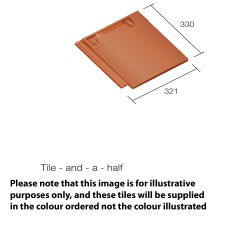 Sandtoft 20/20 Interlocking Clay Roof Tile Right Hand Verge Tile And Half  - from About Roofing Supplies Limited