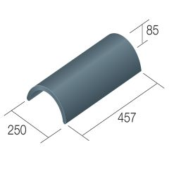 Sandtoft Concrete Duracoat Segmental Ridge  - from About Roofing Supplies Limited
