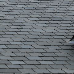 Amazonia Grey Green Preholed Brazilian Natural Slate 500mm x 375mm - from About Roofing Supplies Limited