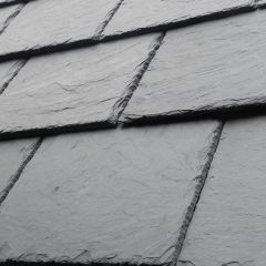Del Carmen First 500mm x 375mm Preholed Spanish Natural Roof Slate - from About Roofing Supplies Limited