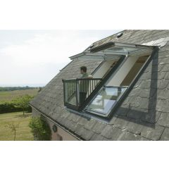 Velux GDL PK19 SKOL222 Double Cabrio Roof Balcony Window & Slate Flashing - from About Roofing Supplies Limited