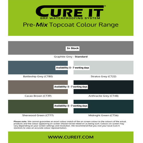 About Roofing Supplies | Cure It GRP colour swatch