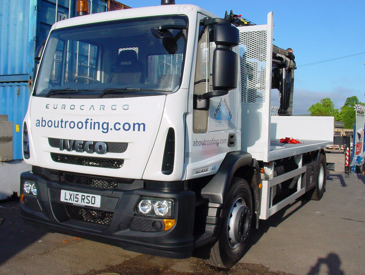 About Roofing Supplies Dorking Branch - Large Delivery Fleet