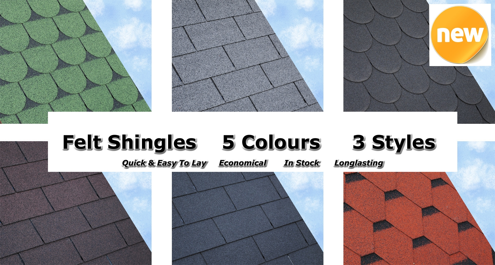 Felt Shingles from About Roofing Supplies