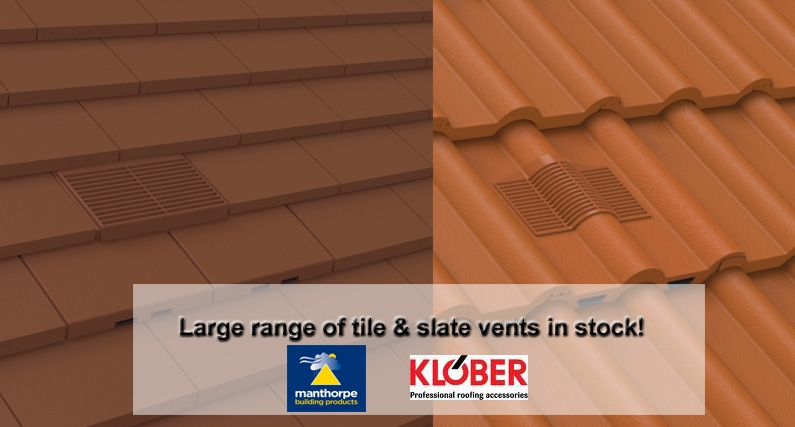 Manthorpe & Klober Roof Vent Tiles - About Roofing Supplies