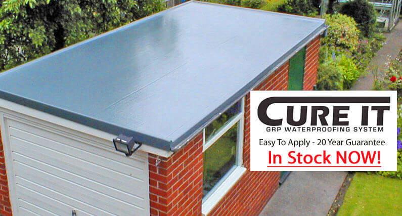 About Roofing Supplies supply the Cure It GRP Waterproofing System For Flat Roofs