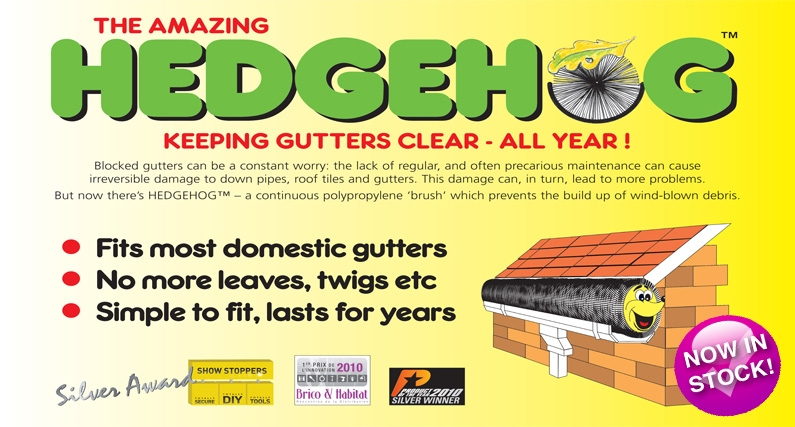 About Roofing Supplies supply Hedgehog Gutter Brushes & Hedgehog Gutter Brush Clips for gutters