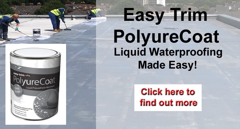 Easy Trim PolyureCoat Liquid Waterproofing Made Easy | About Roofing Supplies