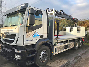 Meet the latest addition to the About Roofing Supplies lorry fleet