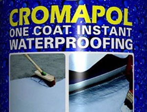 How long does it take Cromar Cromapol roof coating to dry?
